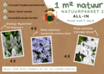 1 m² natuur - groenblijvend all-in-one natuurpakket 2