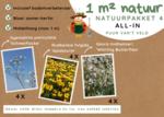 1 m² natuur - middelhoge border all-in-one natuurpakket 4