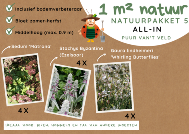 1 m² natuur - middelhoog all-in-one natuurpakket 5