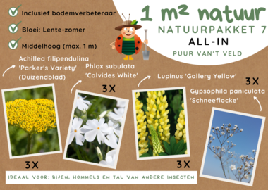 1 m² natuur - middelhoog all-in-one natuurpakket 7