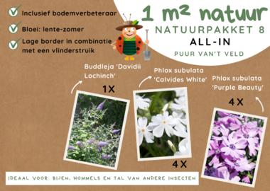 1 m² natuur - combinatieborder all-in-one natuurpakket 8