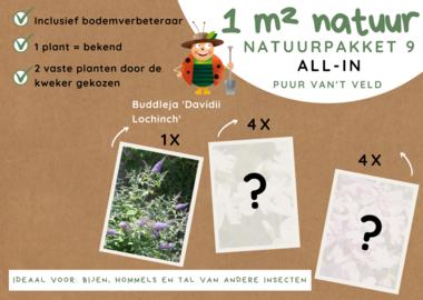 1 m² natuur - 'keuze van de kweker' all-in-one natuurpakket 9