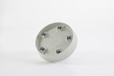 Ecopots onderschotel met wielen 41.5 cm - Whitestone/White grey