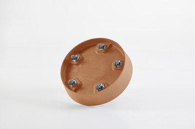 Ecopots onderschotel met wielen 41.5 cm - Terracotta