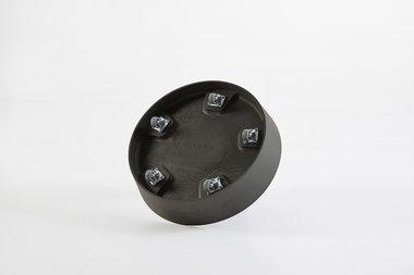 Ecopots onderschotel met wielen 34 cm - Dark grey
