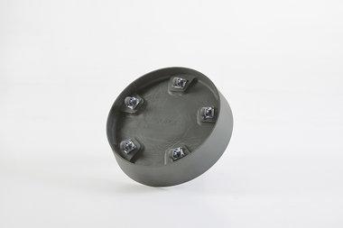Ecopots onderschotel met wielen 34 cm - Grey