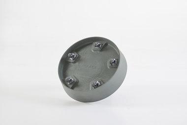 Ecopots onderschotel met wielen 34 cm - Bluestone/Blue grey