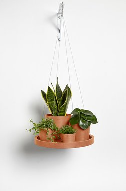Ecopots hangend 'hangende schotel' 36 cm - Terracotta