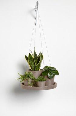 Ecopots hangend 'hangende schotel' 36 cm - Taupe