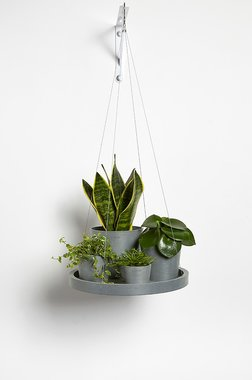 Ecopots hangend 'hangende schotel' 36 cm - Bluestone/Blue grey