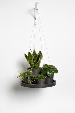Ecopots hangend 'hangende schotel' 36 cm - Dark grey