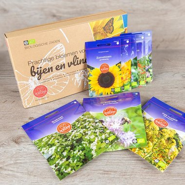 Biologische zadenpakket 'Bijen en vlinders'