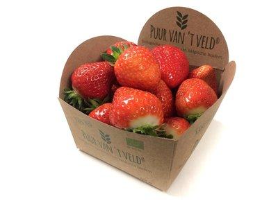 Biologische aardbeien 'Puur van't veld' 500 gram - afhaling