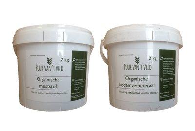 Duo pakket meststof en bodemverbeteraar